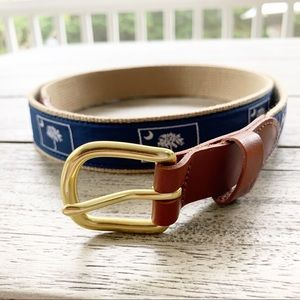 Palmetto Moon Ribbon Belt by Leather Man 42""